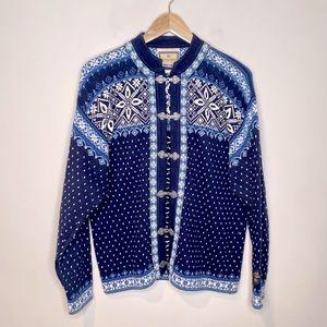 Dale of Norway Nordic Navy Printed Knit Jacket